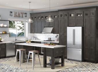 Charcoal Grey Shaker RTA Cabinets