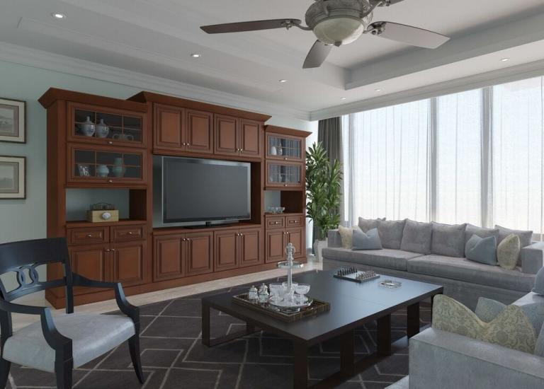 Signature Chocolate RTA TV Room Cabinets