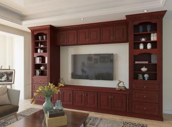 Cayenne Cognac RTA TV Room Cabinets