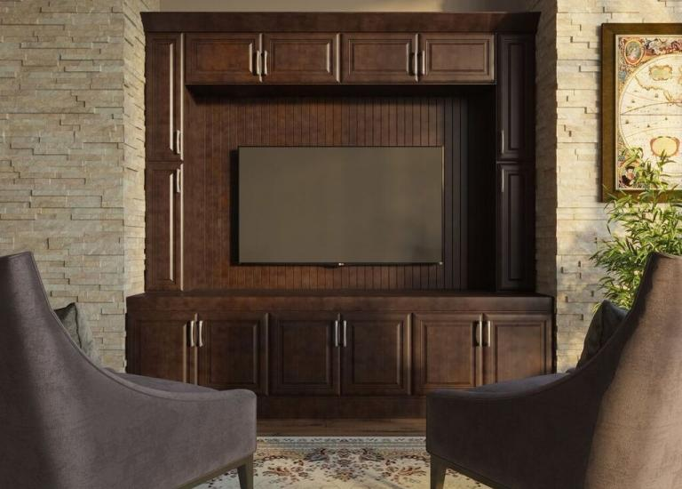 Regency Espresso Pre-Assembled TV Room Cabinets