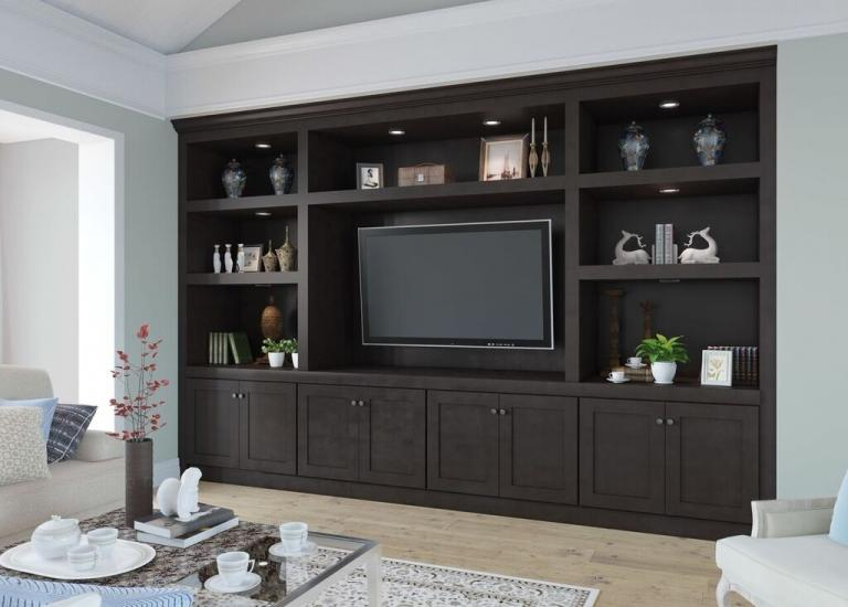 Brazilian Shaker Pre-Assembled TV Room Cabinets
