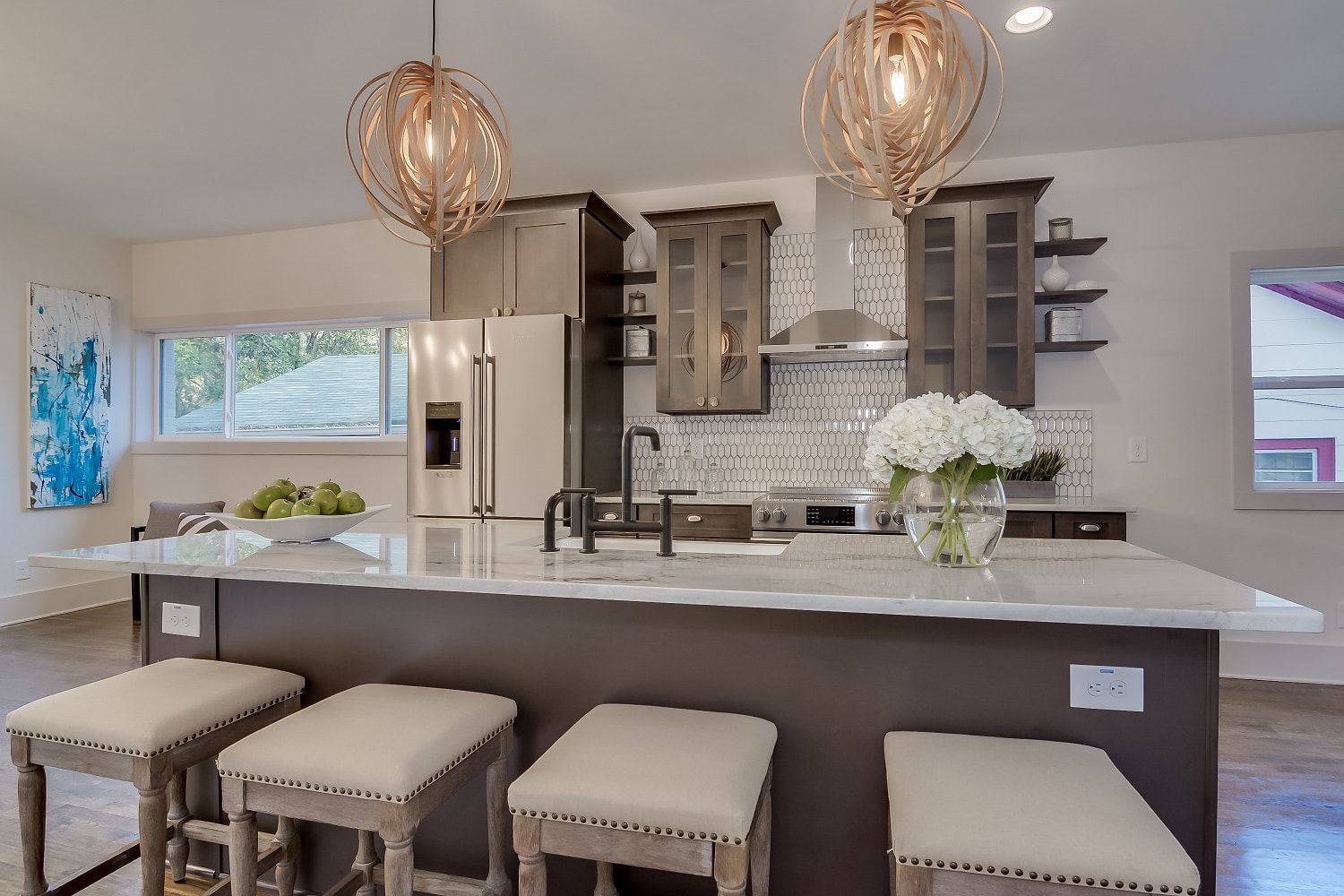 Natural Grey Shaker Pre-Assembled Kitchen Cabinets - The ...
