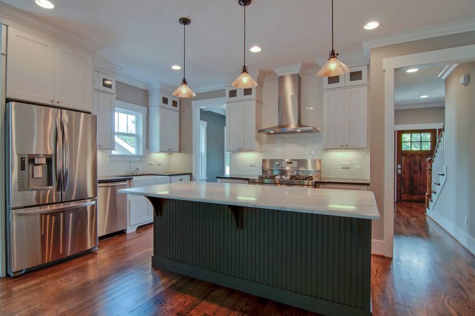 Semi custom society shaker white pre assembled kitchen for Pre assembled kitchen cupboards