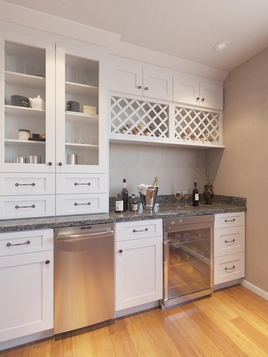 Aspen White Shaker Pre Assembled Kitchen Cabinet The Rta