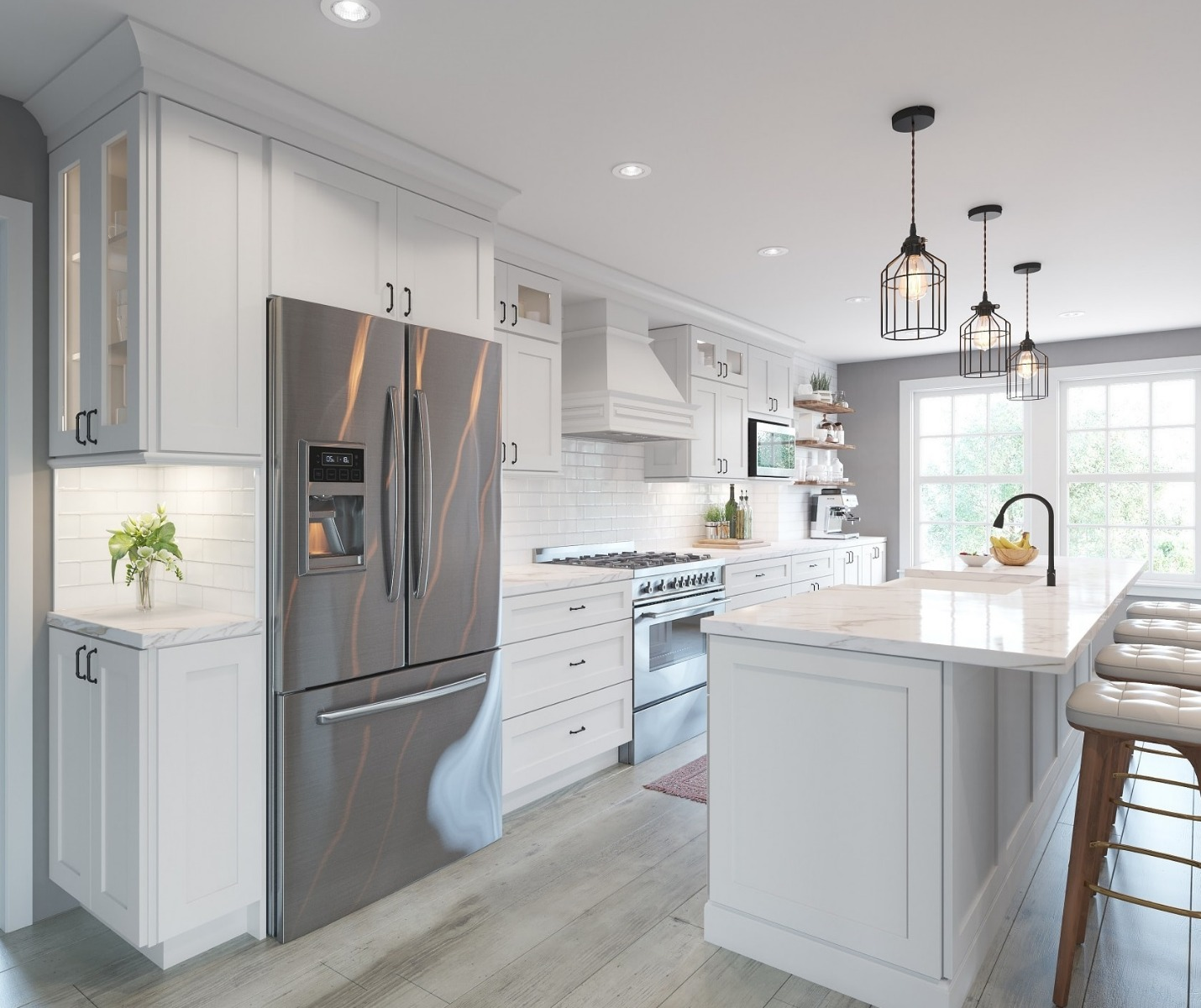 aspen white shaker - ready to assemble kitchen cabinets - the rta store