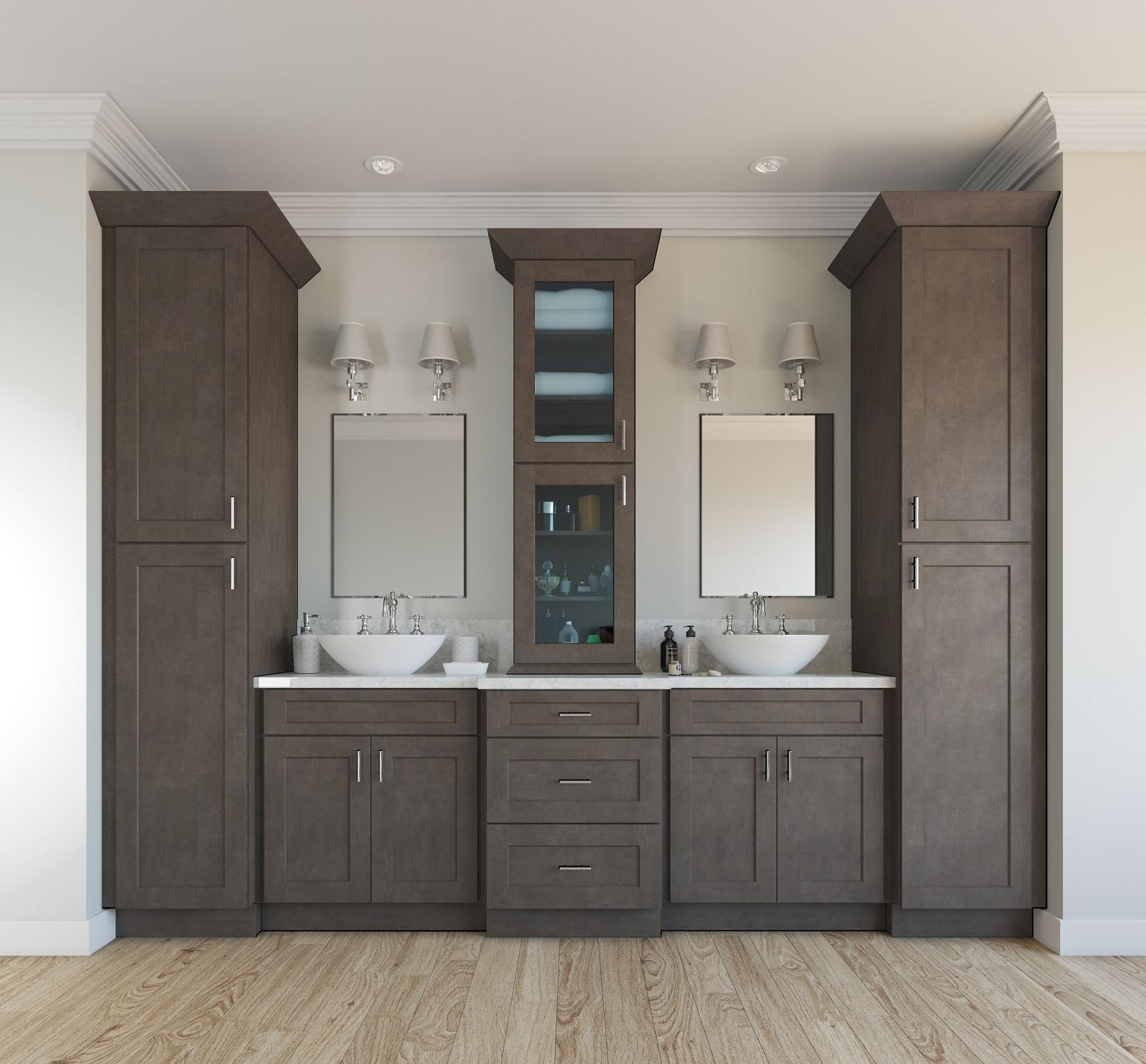 Natural Grey Shaker Pre Assembled Bathroom Vanities