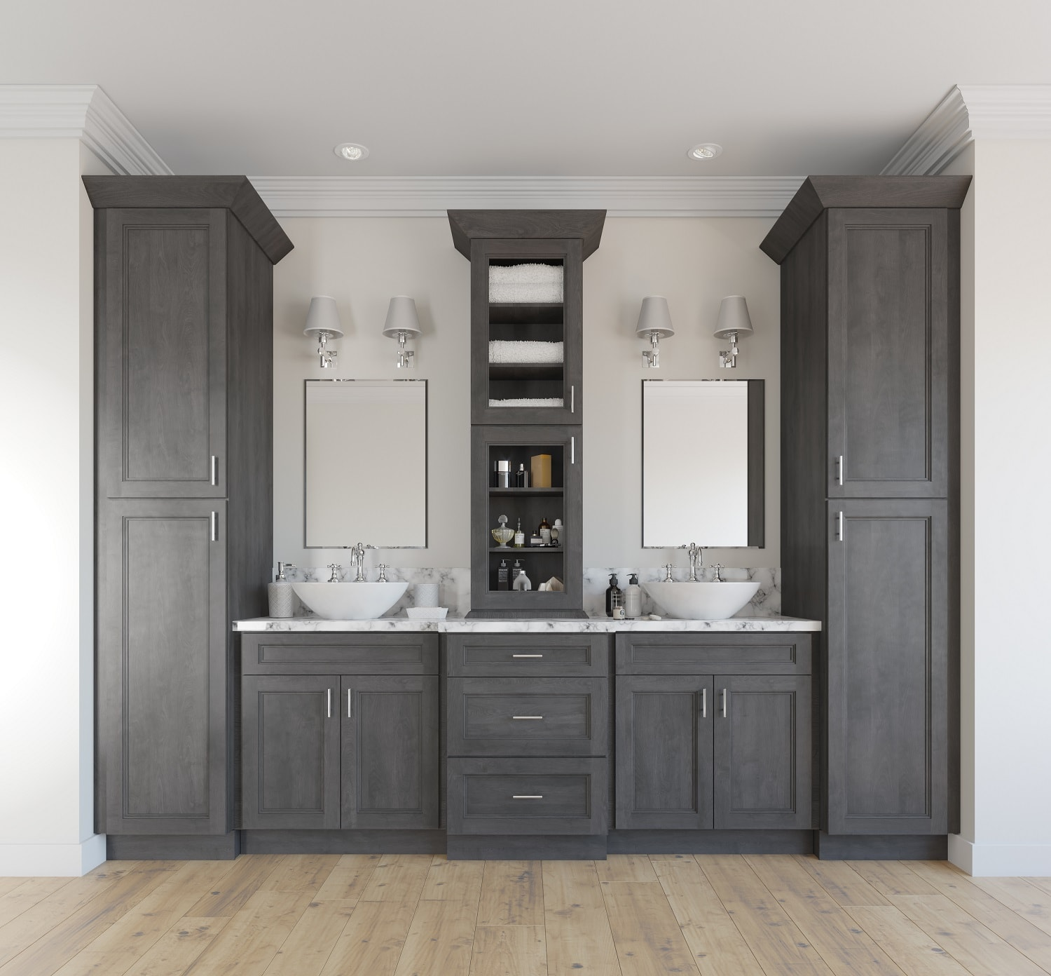 Providence Natural Grey Pre-Assembled Kitchen Cabinets
