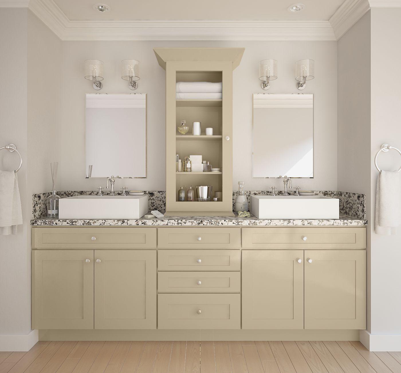 Semi Custom Bathroom Vanity: Society Shaker Khaki (Semi-Custom)