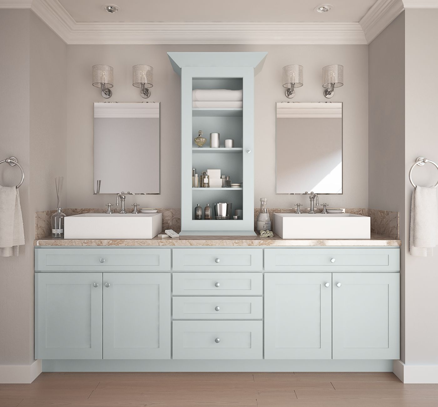 Can I Use Kitchen Cabinets In The Bathroom: Society Shaker Tidewater (Semi-Custom)