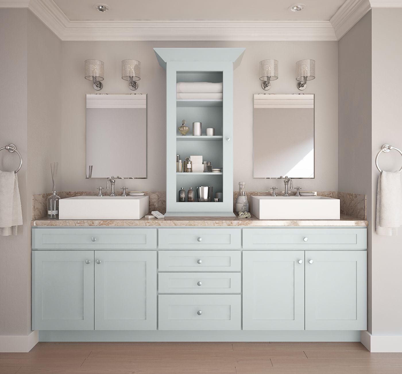 Already Assembled Kitchen Cabinets: Society Shaker Tidewater (Semi-Custom)