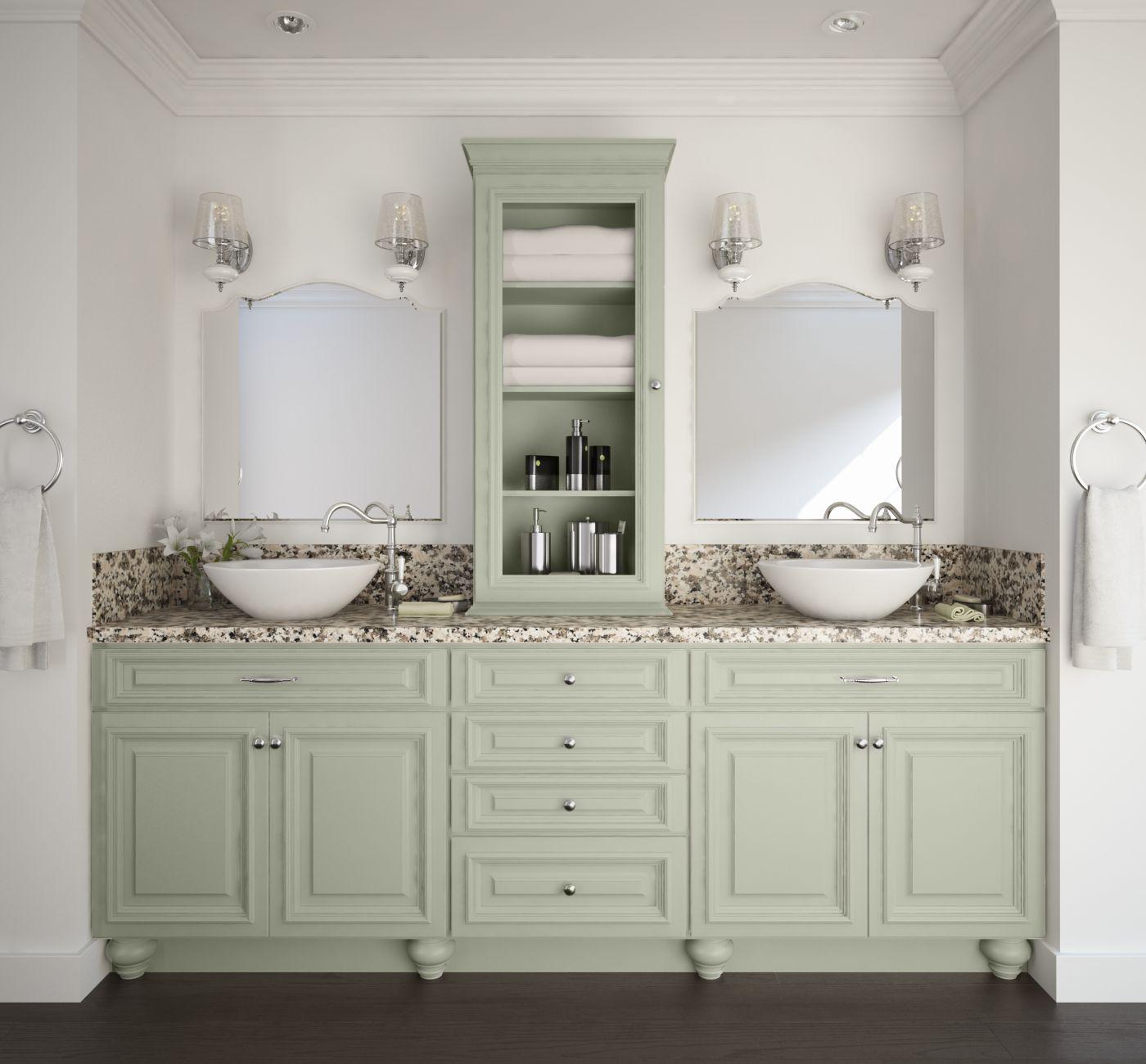 Semi Custom Bathroom Vanity: Roosevelt Sage