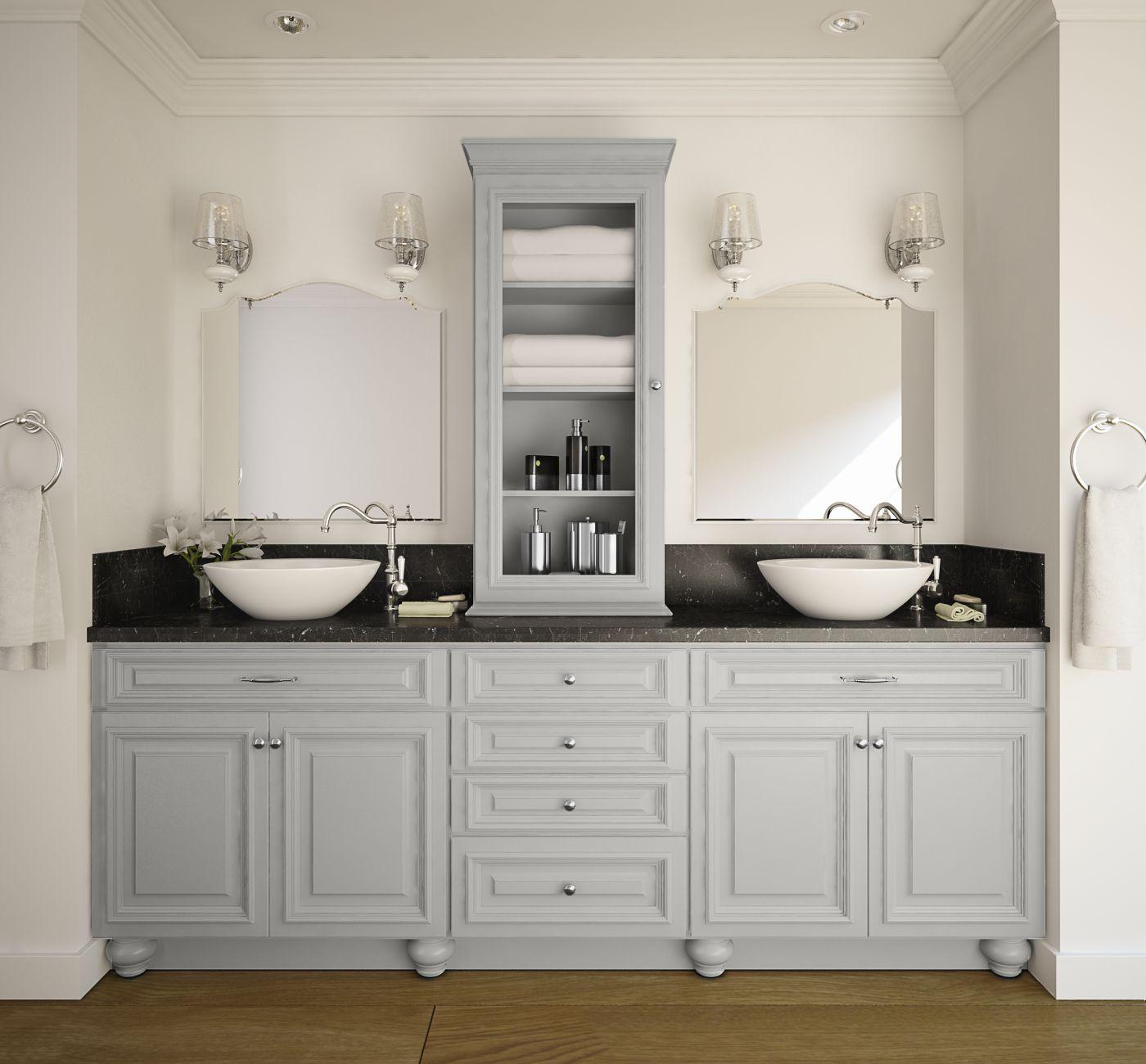 Already Assembled Kitchen Cabinets: Roosevelt Dove Gray Pre-Assembled Kitchen Cabinets