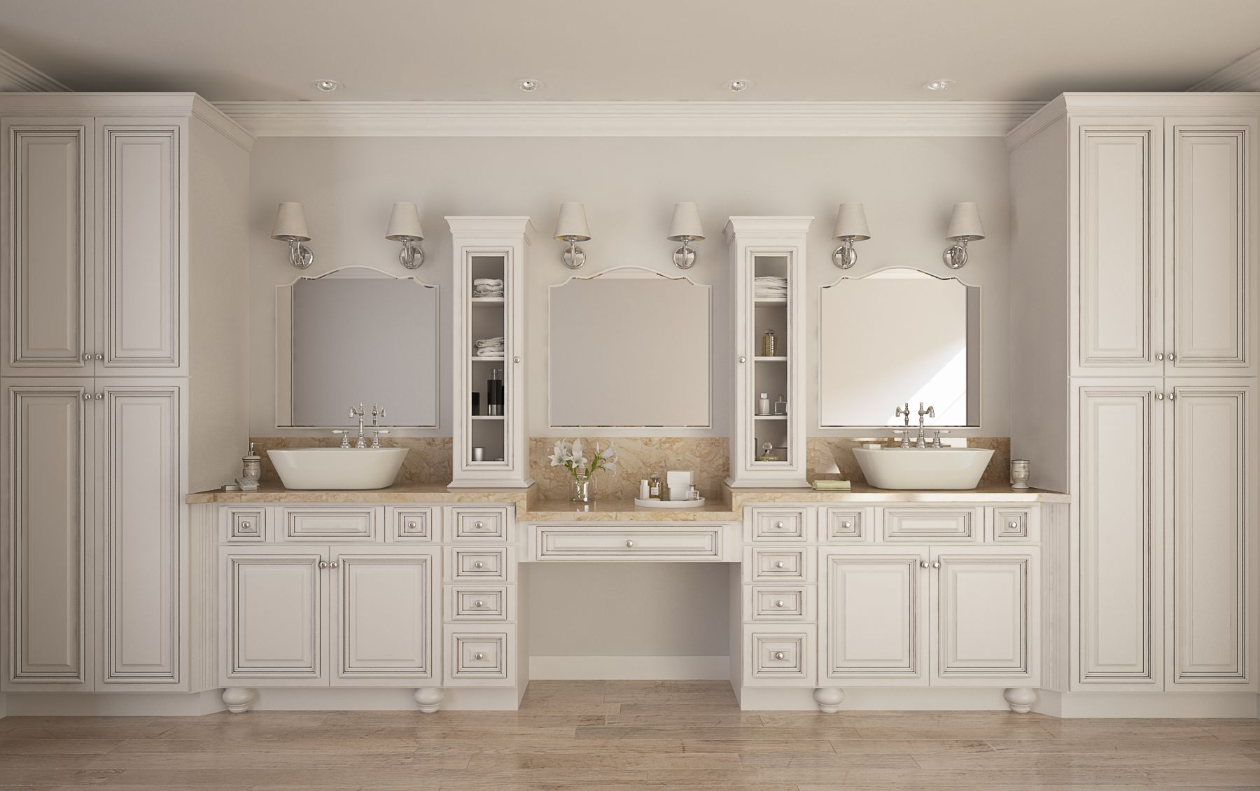 accent roosevelt white pre assembled bathroom vanities the rta store