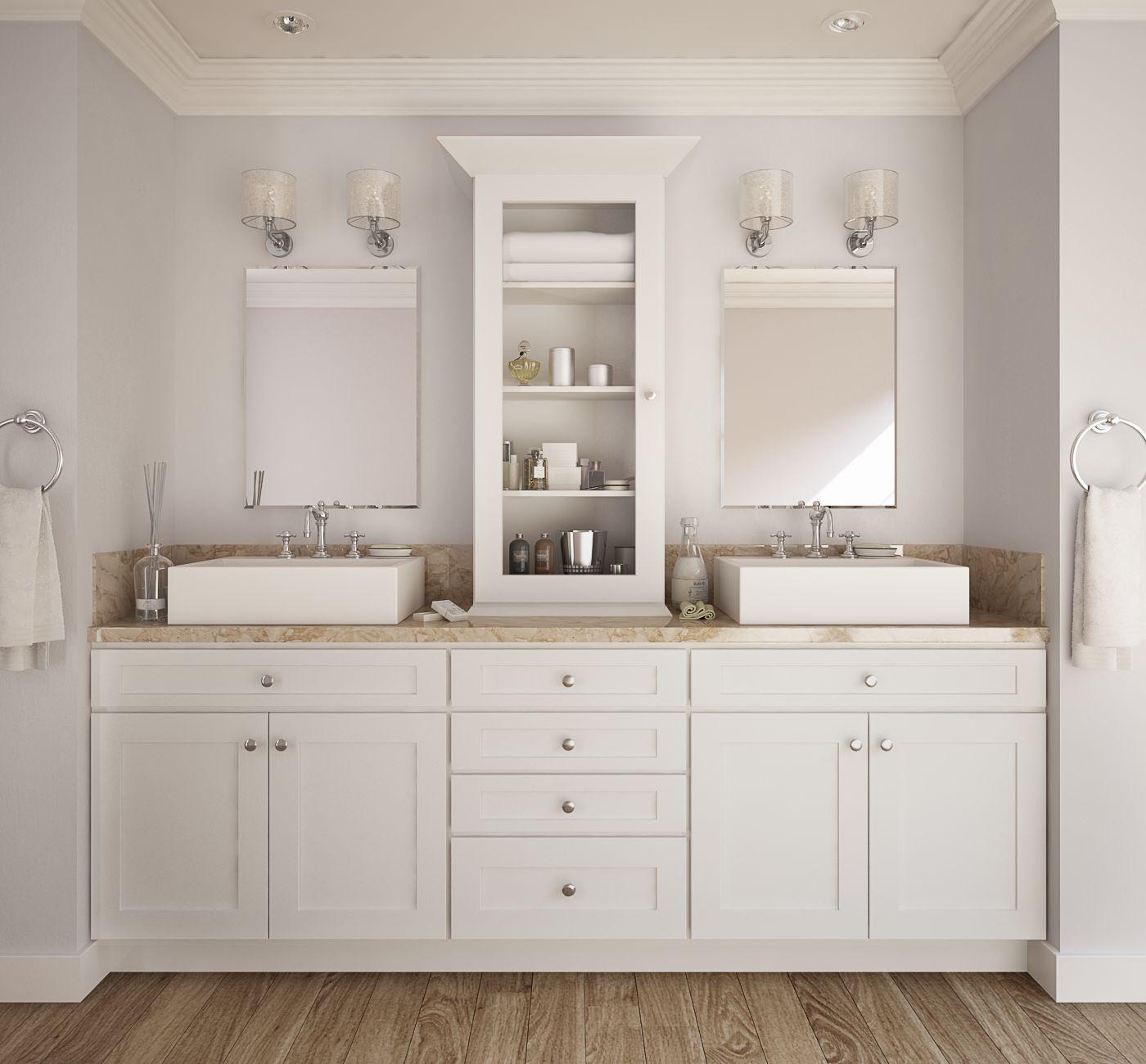 Society shaker white for Premade bathroom vanities