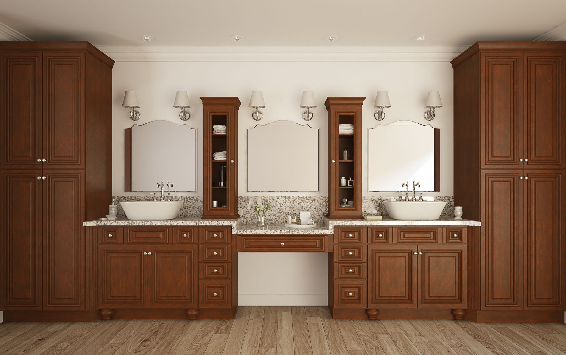 Legacy Harvest With Black Accent Semi Custom Pre Embled Bathroom Vanities