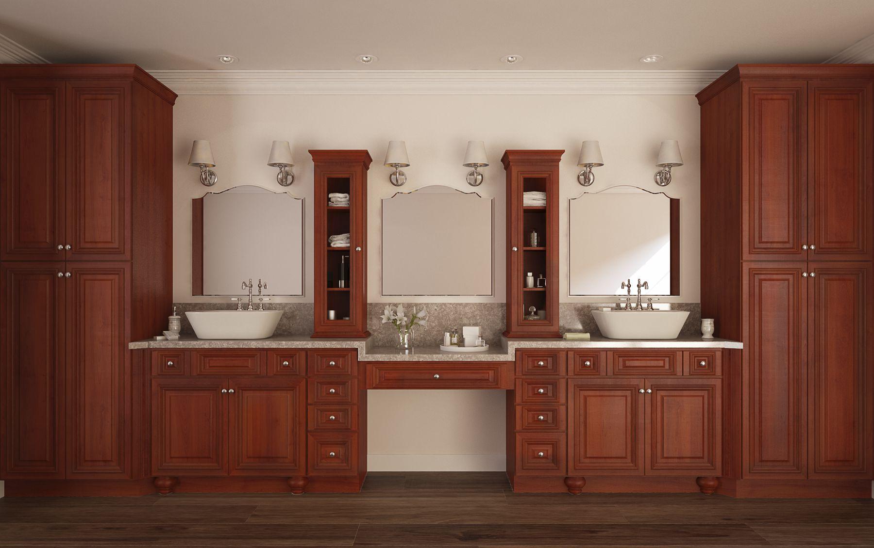 accent roosevelt mocha pre assembled bathroom vanities the rta store