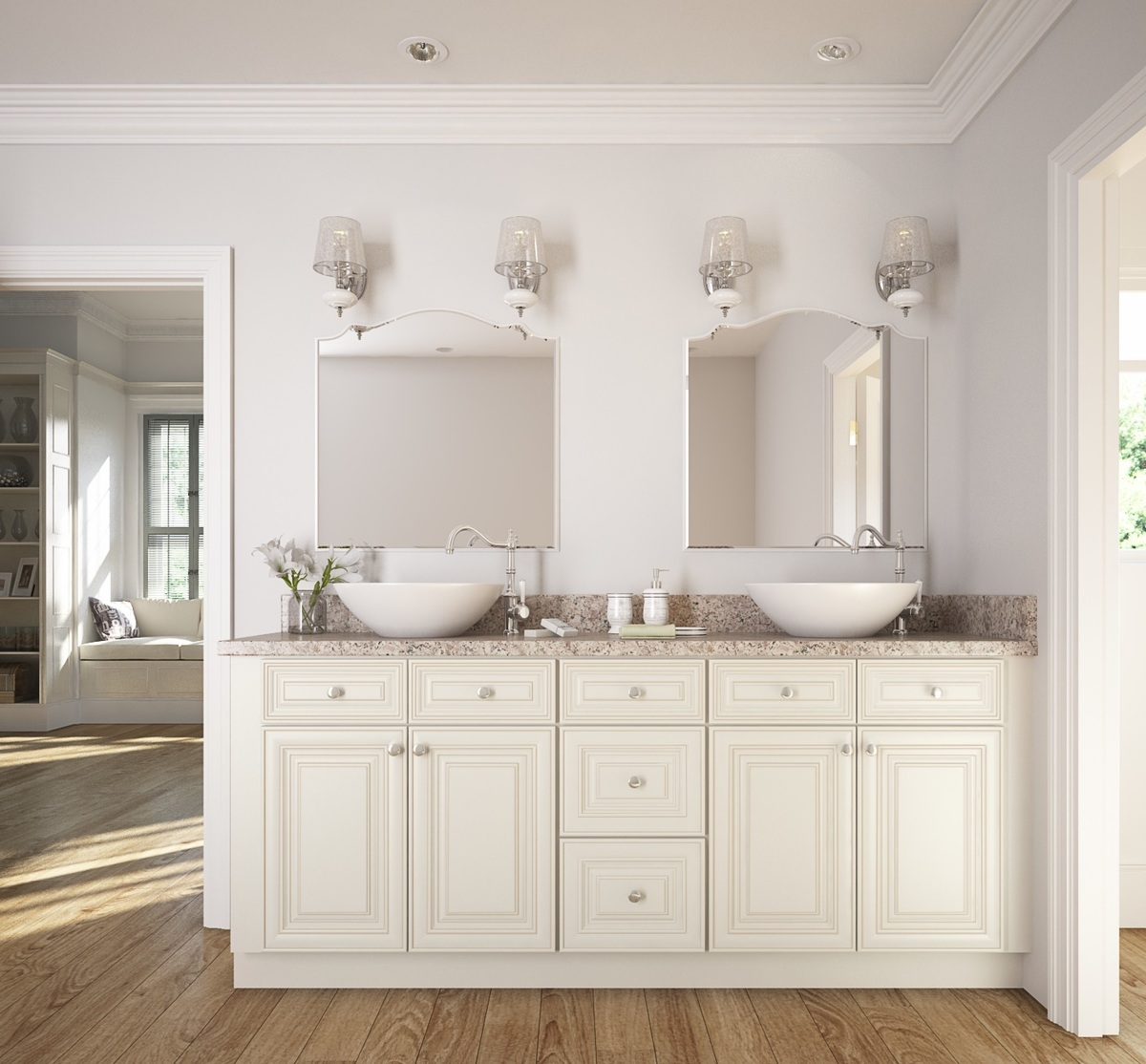 Cambridge Antique White Glaze Ready to Assemble Bathroom Vanities & Cabinets.  Cambridge%20Antique%20White%20Glaze - Cambridge Antique White Glaze - Ready To Assemble Bathroom Vanities