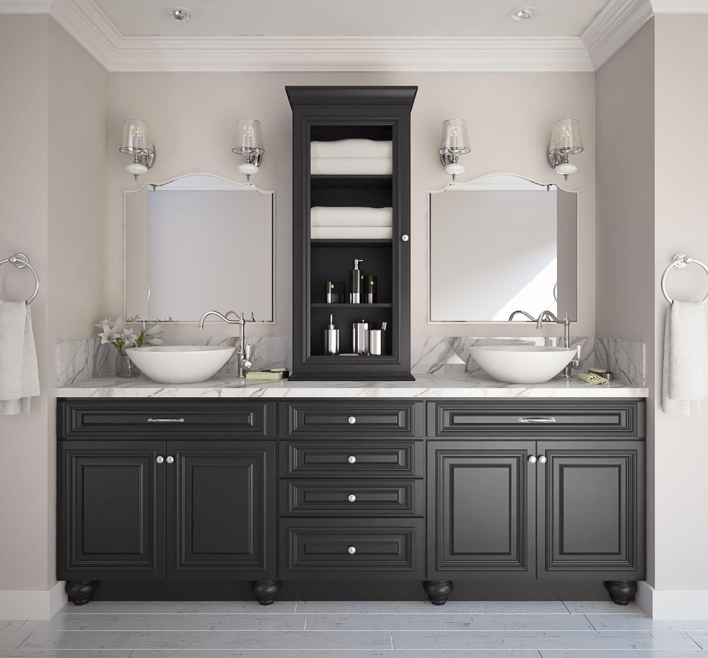 black semi custom pre assembled bathroom vanities the rta store