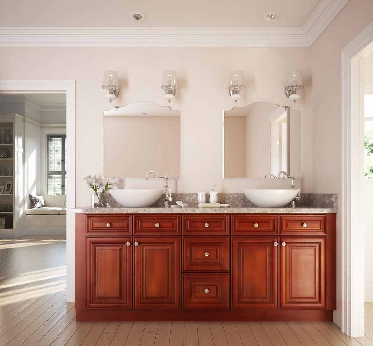 Cambridge Cherry Glaze Ready To Assemble Bathroom