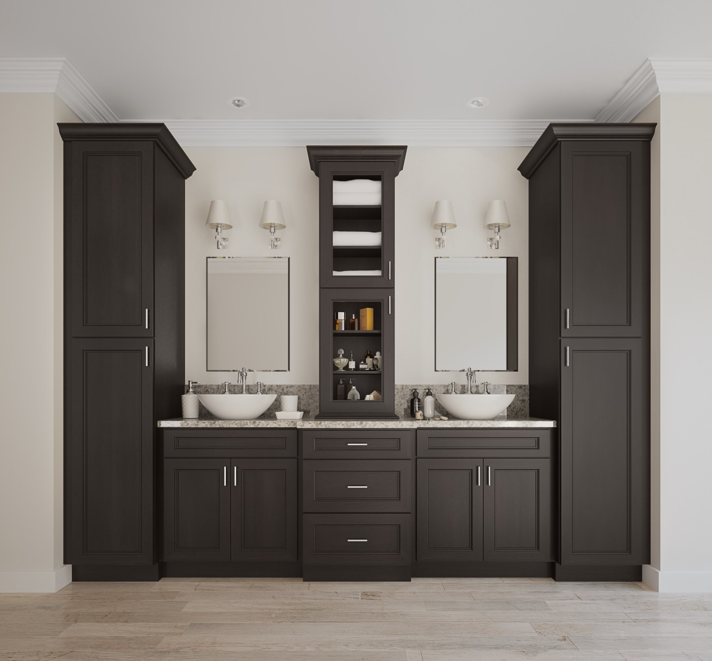 ready to assemble bathroom cabinets newport espresso ready to assemble bathroom vanities 24030