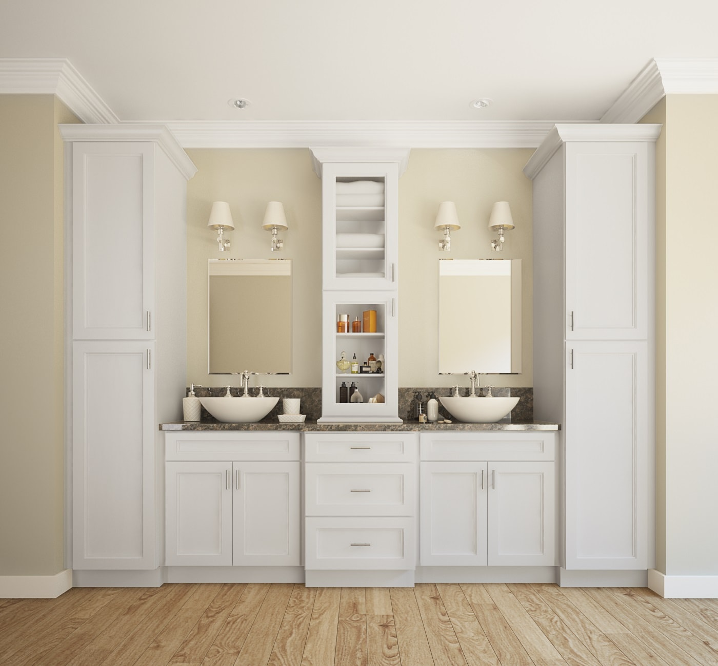 Providence White - Ready to Assemble Bathroom Vanities & Cabinets ...