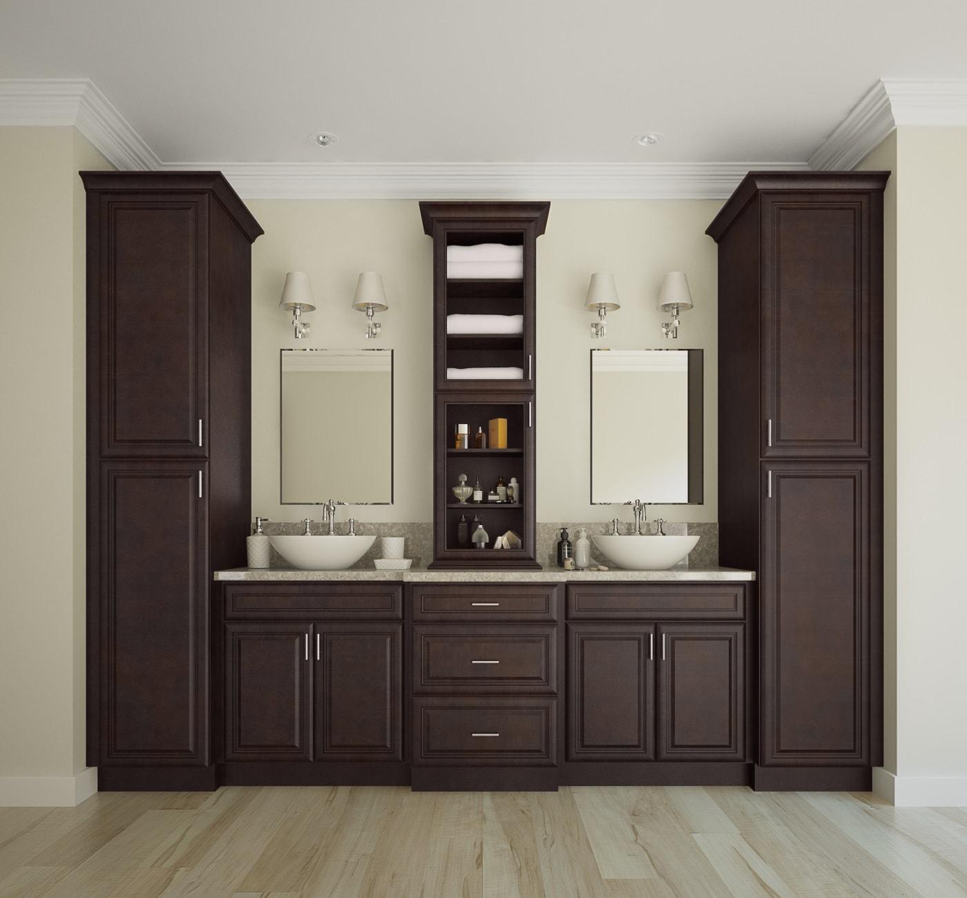 regency espresso ready to assemble bathroom vanities