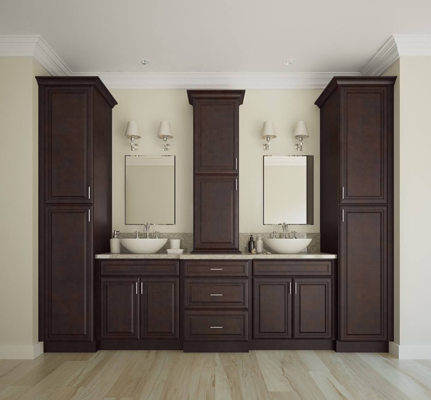 Already Assembled Kitchen Cabinets: Regency Espresso Pre-Assembled Kitchen Cabinets