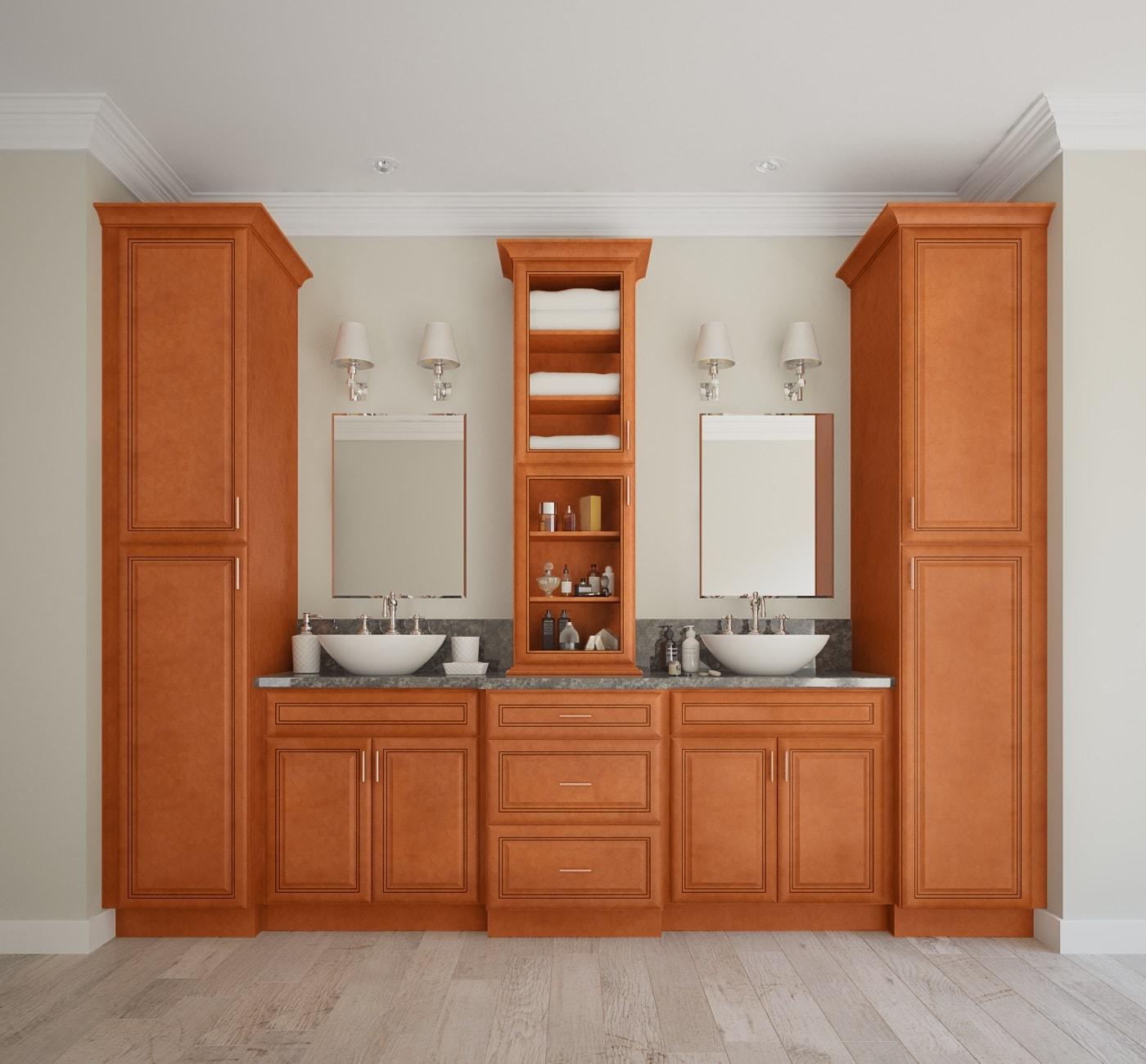 Regency Spiced Glaze Ready To Assemble Bathroom Vanities