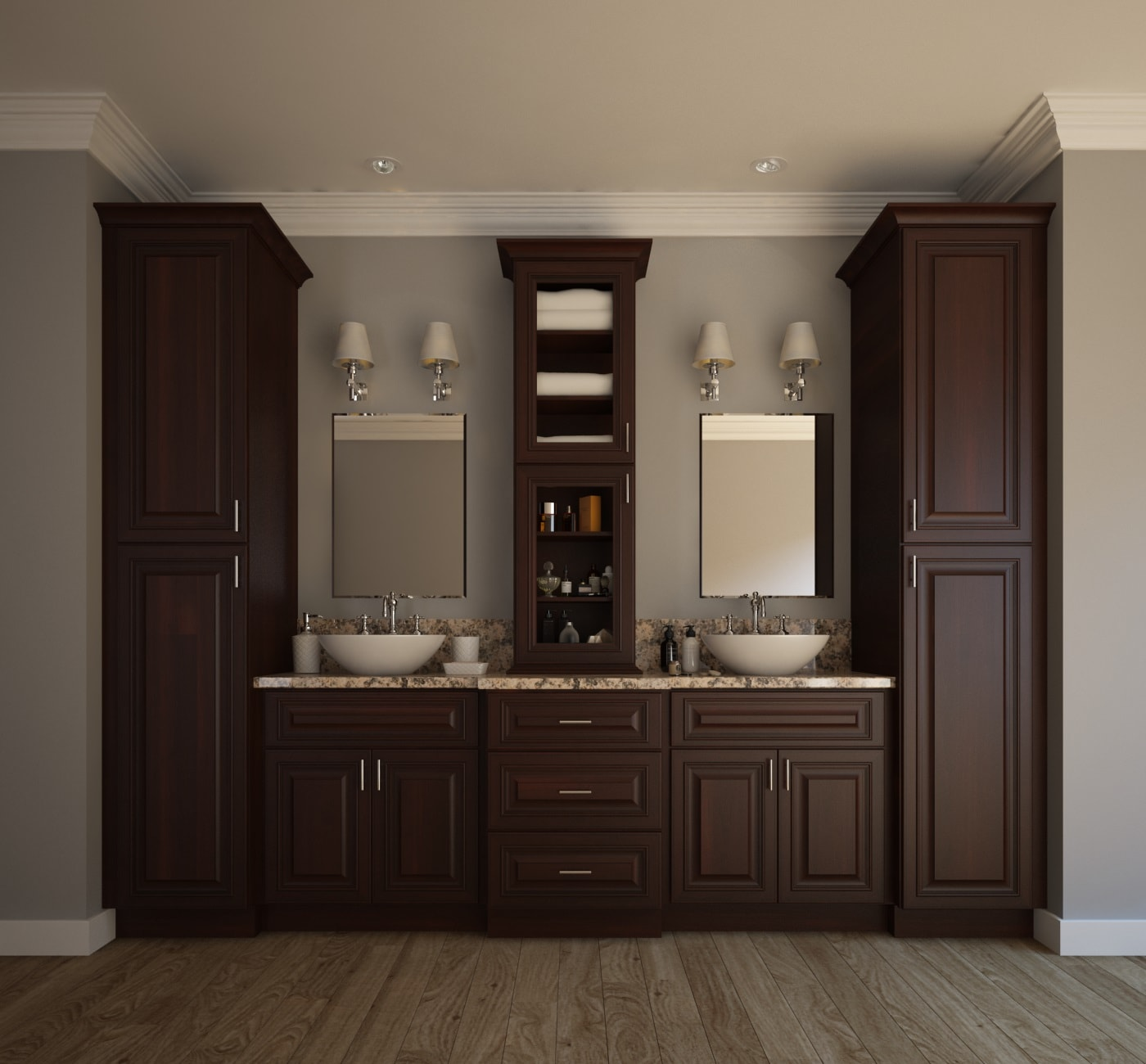 signature chocolate ready to assemble bathroom vanities