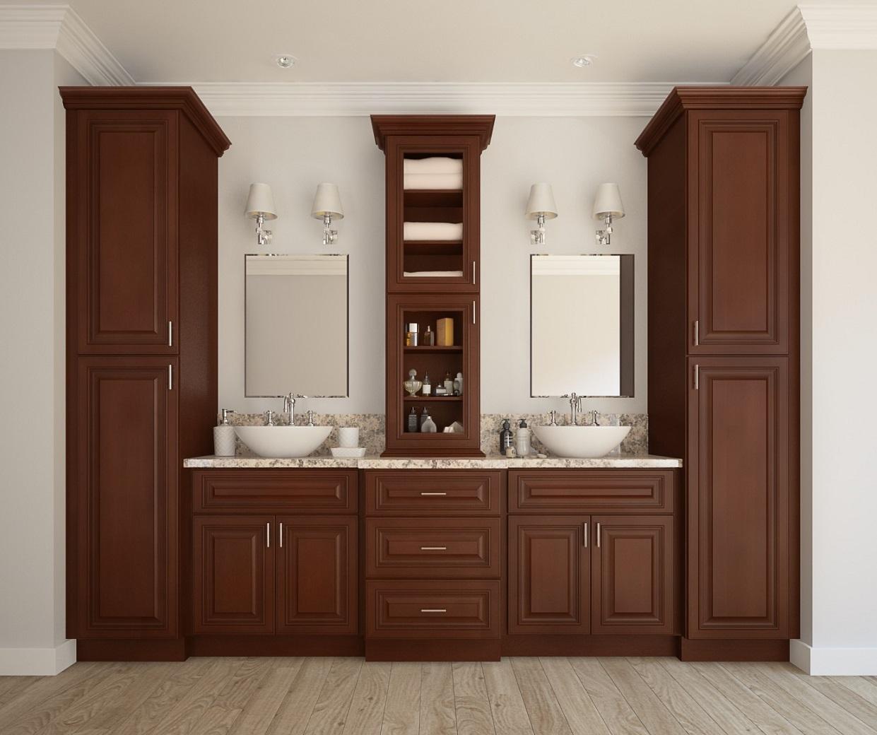 signature chocolate ready to assemble bathroom vanities