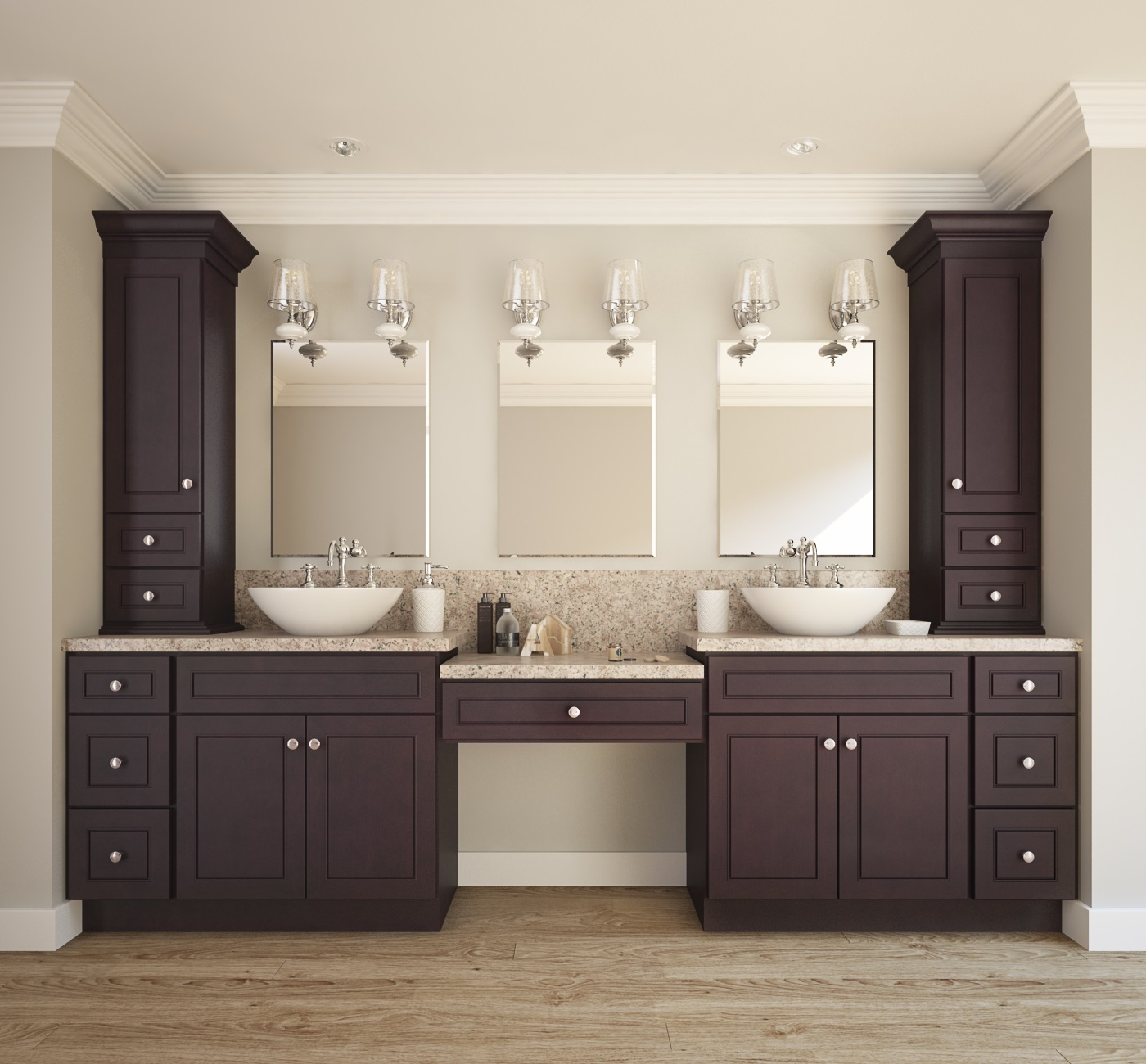 Espresso bean ready to assemble bathroom vanities - Pictures of vanities in bathrooms ...