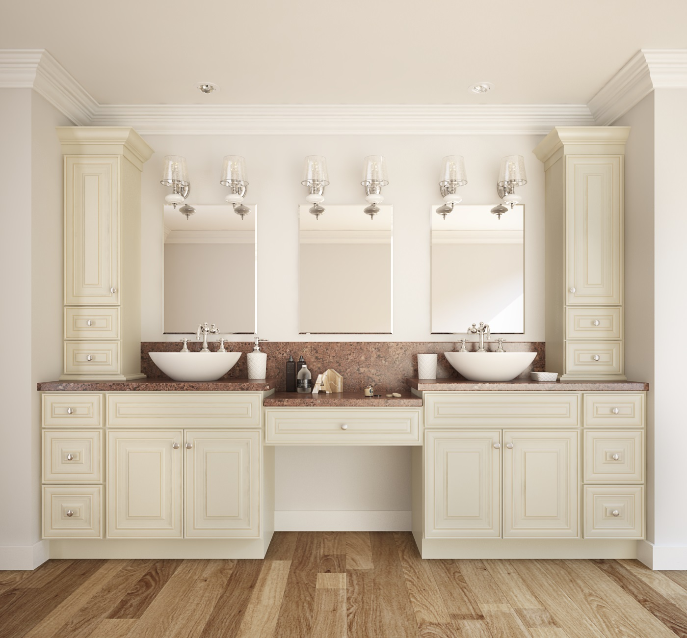 French Vanilla Glaze Ready To Assemble Bathroom Vanities