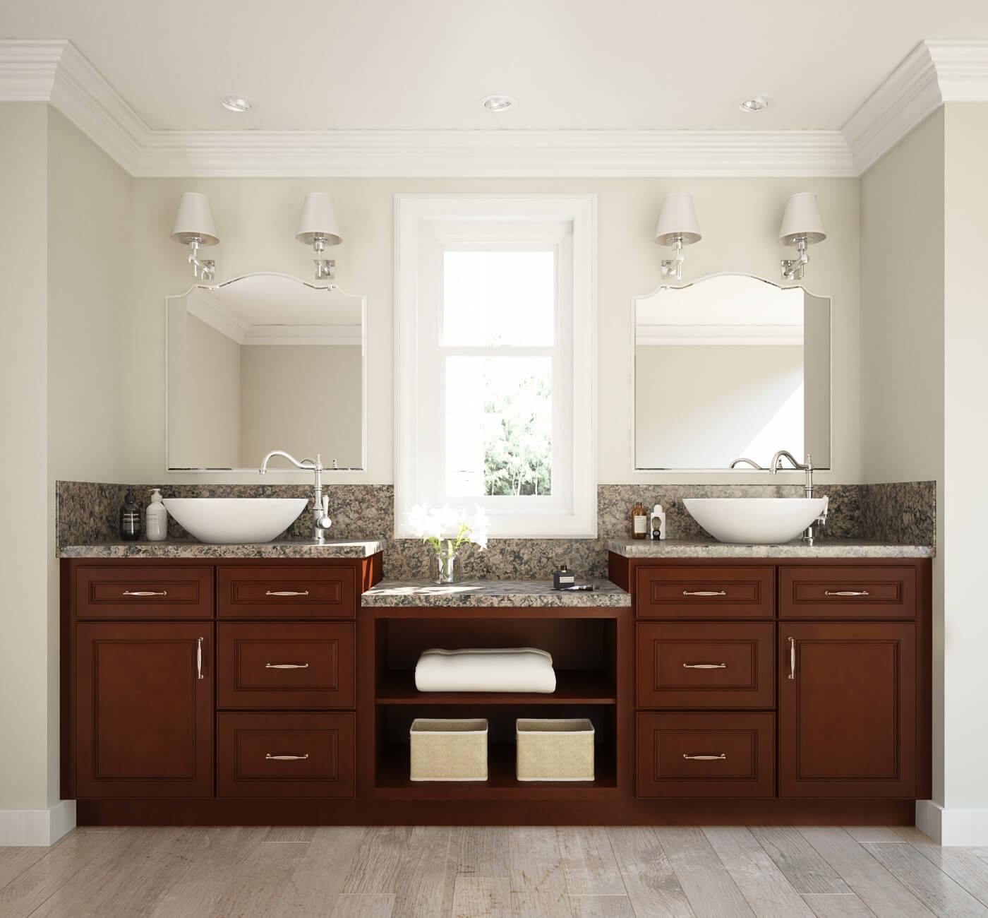 camden coffee ready to assemble bathroom vanities