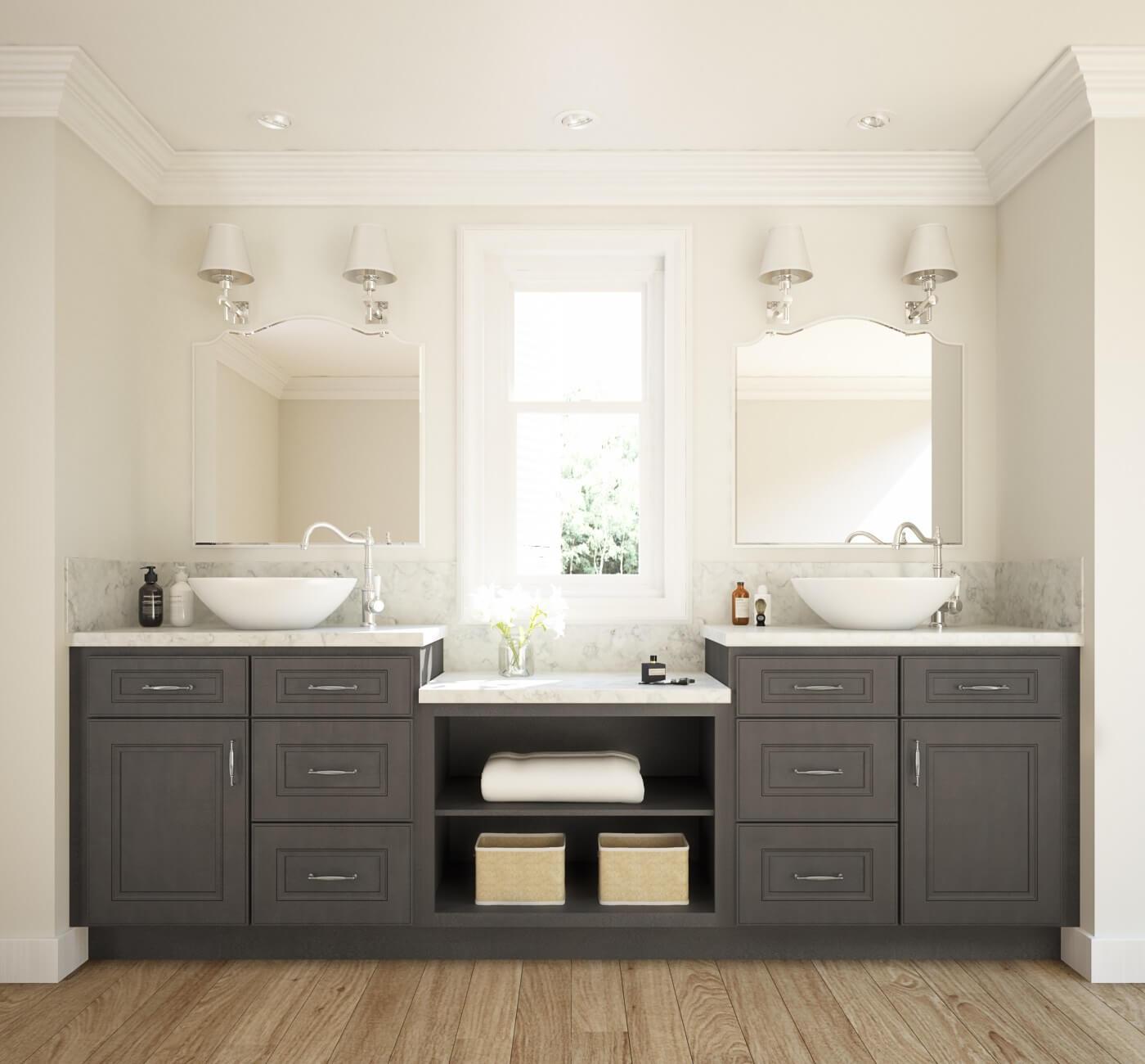 Glazed Stone Grey Ready To Assemble Bathroom Vanities