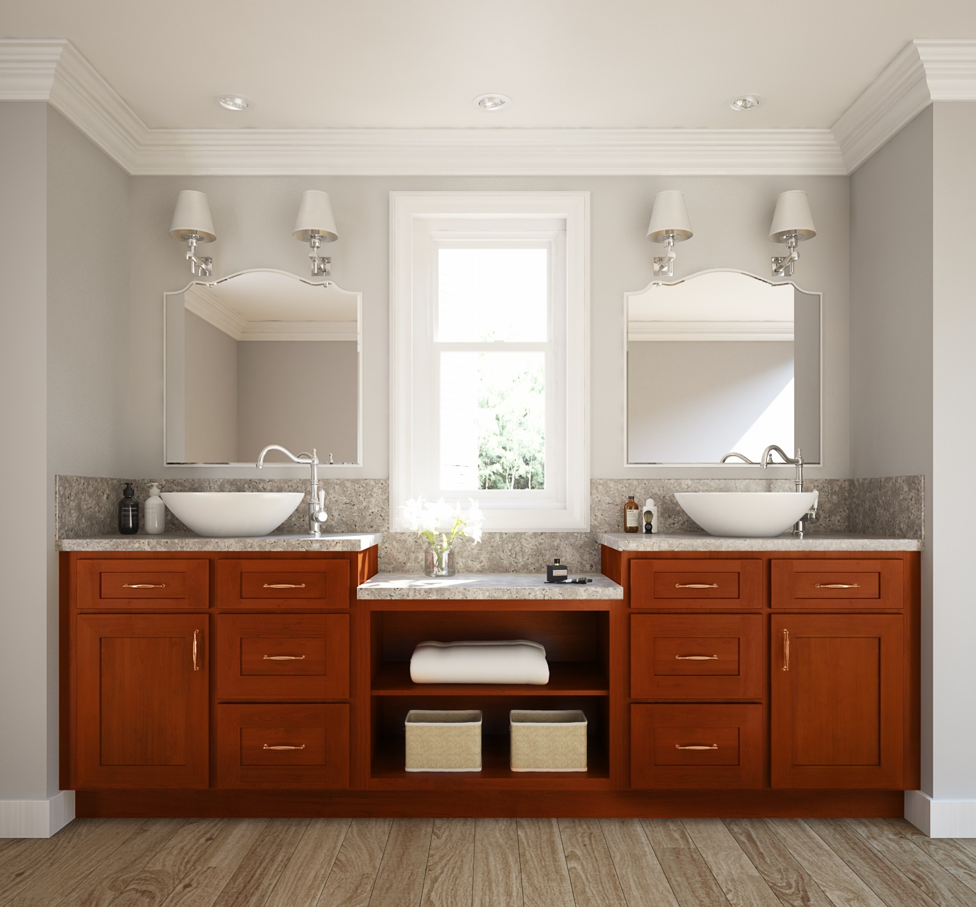 shaker cabernet ready to assemble bathroom vanities