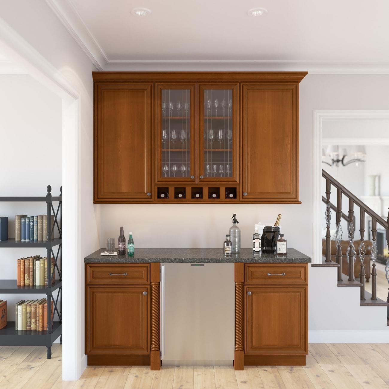 Cafe Mocha Glaze Ready To Assemble Kitchen Cabinets
