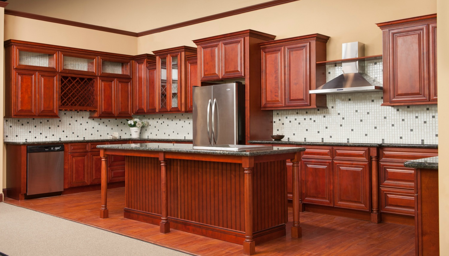 Kitchen cabinets rta shipping oak color ideas traditional for All kitchen cabinets
