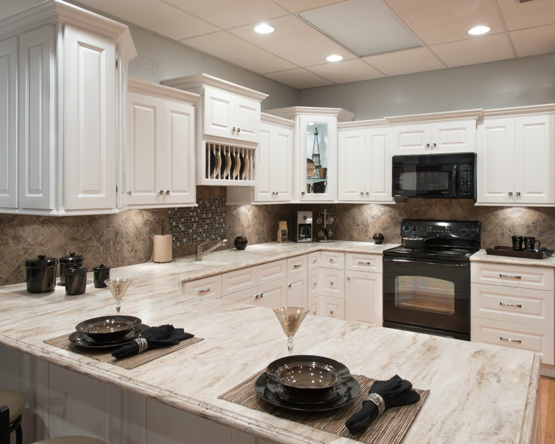 Pearl white ready to assemble kitchen cabinets kitchen for Pearl white kitchen cabinets