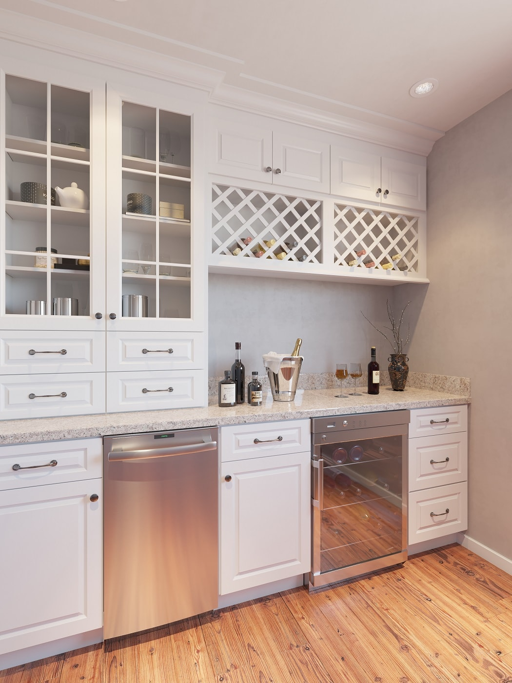 Dakota white pre assembled kitchen cabinets the rta store for Pre assembled kitchen units