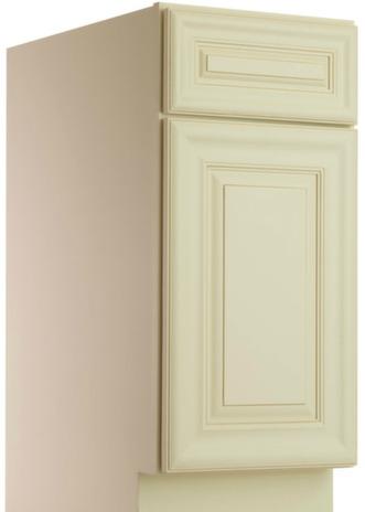 Assembled painted linen base cabinet 4