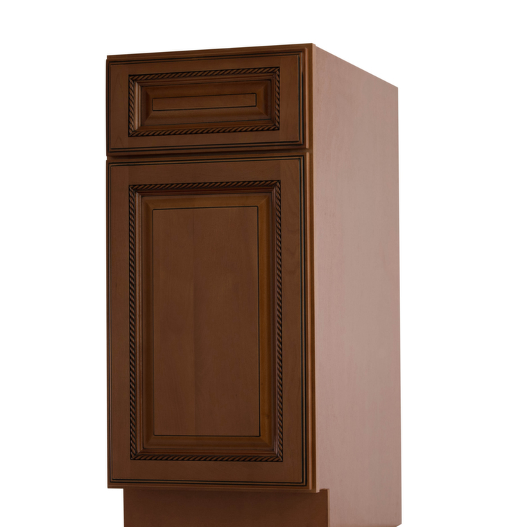 Nutmeg twist pre assembled kitchen cabinets the rta store for Pre assembled cupboards