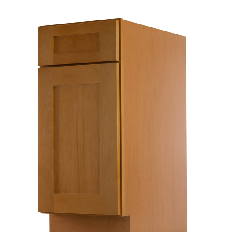 Shaker honey pre assembled kitchen cabinets the rta store for Pre assembled kitchen units