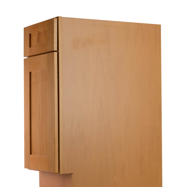 Shaker honey pre assembled kitchen cabinets kitchen for Assembled kitchen cabinets