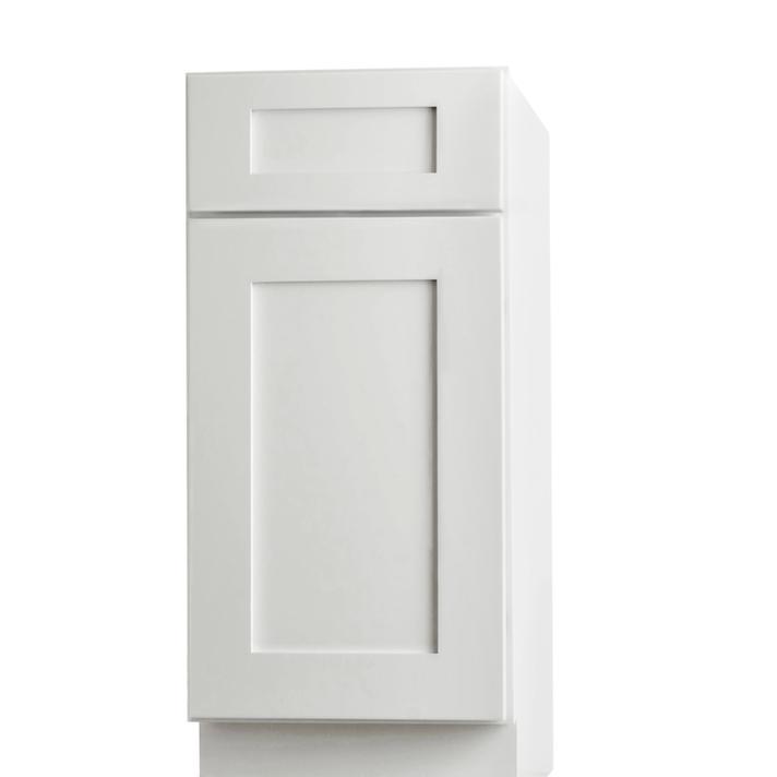 Aspen white shaker pre assembled kitchen cabinets for Already assembled kitchen cabinets