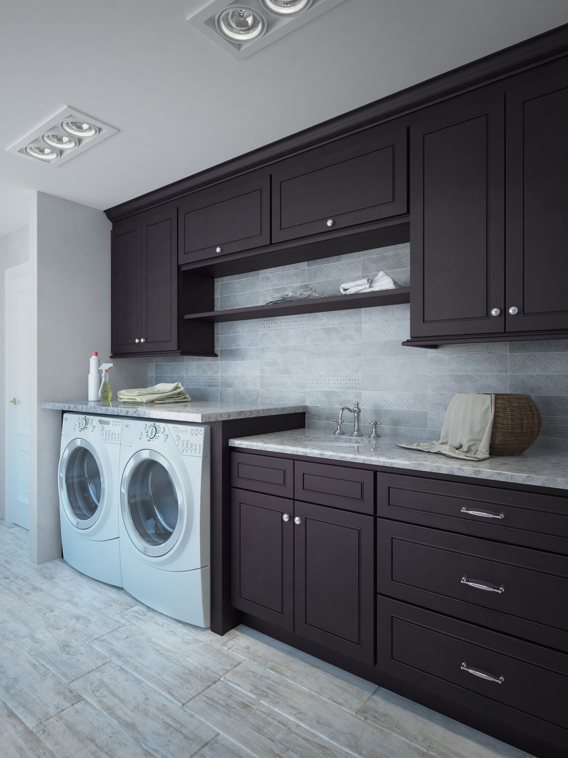 Espresso Bean - Ready to Assemble laundry room Cabinets - Laundry ...