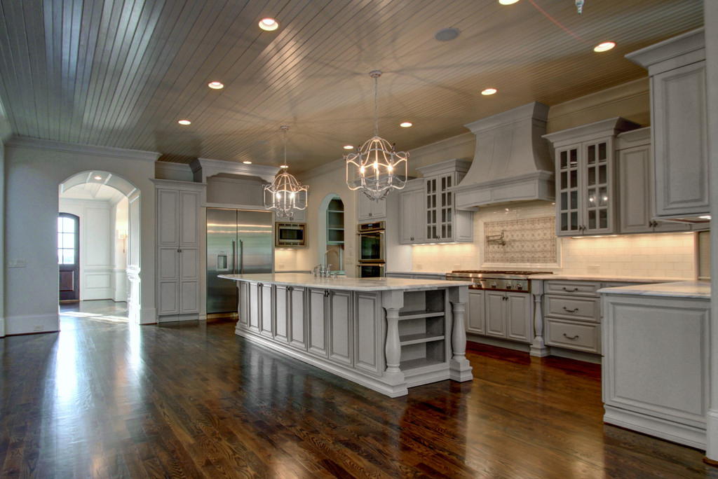 Roosevelt dove gray pre assembled kitchen cabinets the for Premade kitchen cabinets
