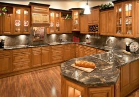 Glazed Praline RTA Kitchen Cabinets
