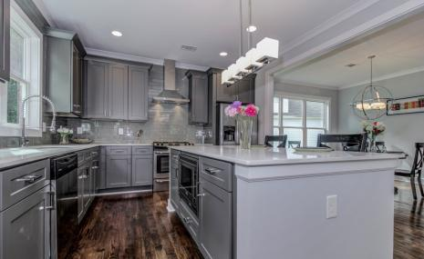 Grey Shaker Ready To Assemble Kitchen Cabinets Kitchen