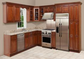 Sangria Maple RTA Kitchen Cabinets