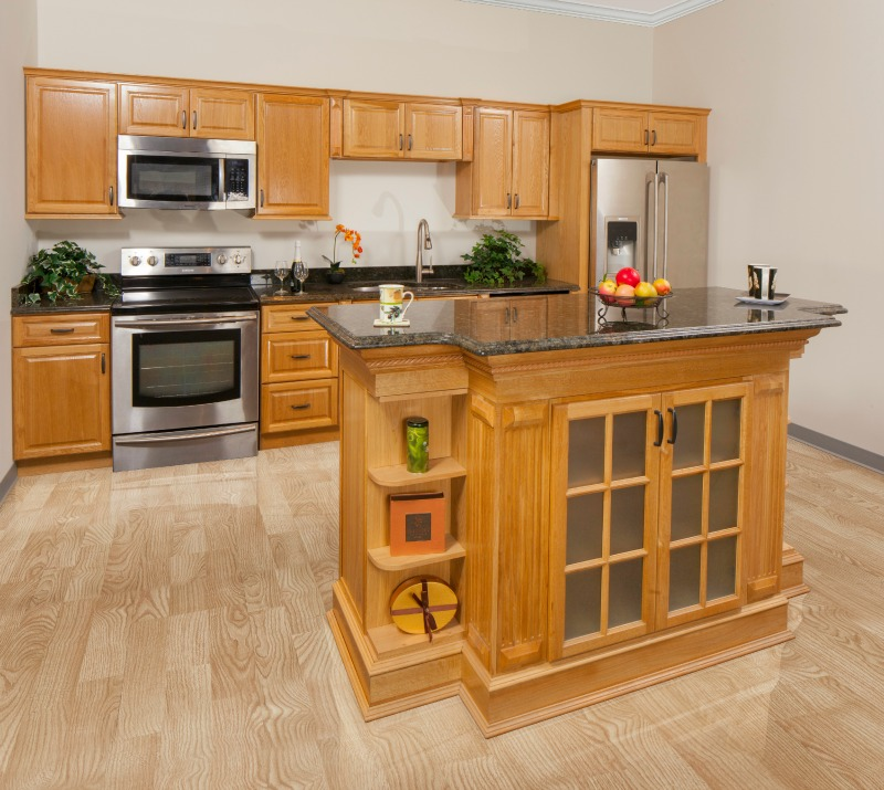 Harvest Oak Pre-Assembled Kitchen Cabinets